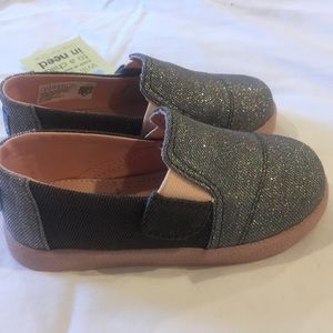Tom's Forged iron glitter shoes. Size 8 toddler
